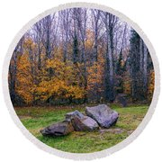 Trench Rocks Round Beach Towel