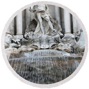 Trevi Fountain Rome Round Beach Towel