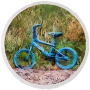 Tri Bike Round Beach Towel