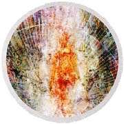 Trial By Fire Round Beach Towel