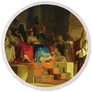 Trial Of The Apostle Paul Round Beach Towel