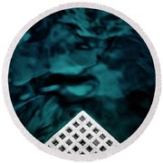 Triangular Abstract Round Beach Towel