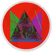 Triangular Thoughts Round Beach Towel