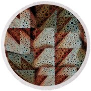 Triangulation Round Beach Towel