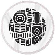 Tribal Ball- Art By Linda Woods Round Beach Towel