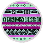Tribal Pattern 06 Round Beach Towel