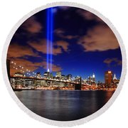 Tribute In Light Round Beach Towel