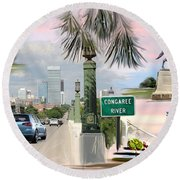 Tribute To Columbia Sc Round Beach Towel