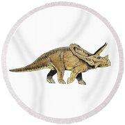 Triceratops Round Beach Towel