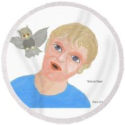 Trick Or Treat Round Beach Towel