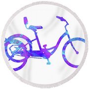 Tricycle Art Round Beach Towel