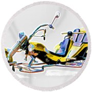 Tricycle Round Beach Towel