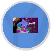 Trigger Fish Round Beach Towel