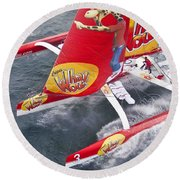 Trimaran Round Beach Towel