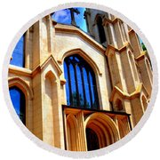 Trinity Episcopal Cathedral Columbia Sc Round Beach Towel