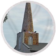 Trinity Parish Episcopal Church Round Beach Towel