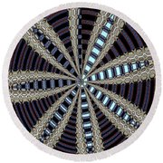 Triple Abstract Round Beach Towel