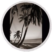 Triple Palms Round Beach Towel
