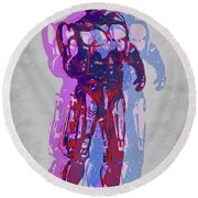 Triple Robocop Rbp Round Beach Towel