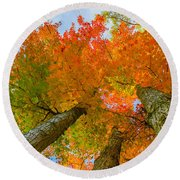 Triple The Maples Round Beach Towel