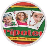 Tripoley Board Game Painting Round Beach Towel