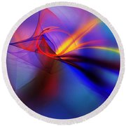 Tripping The Light Fantastic Round Beach Towel