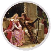 Tristan And Isolde Round Beach Towel