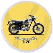 Triumph Bonneville 63 Round Beach Towel