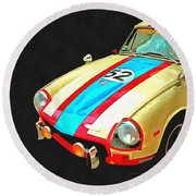 Triumph Gt Pop Art Round Beach Towel