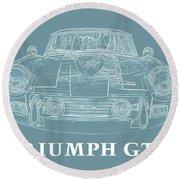 Triumph Gt6 Plus Round Beach Towel