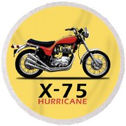 Triumph Hurricane Round Beach Towel