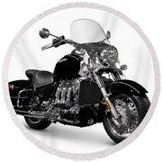 Triumph Rocket IIi Motorcycle Round Beach Towel