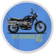 Triumph Scrambler 900 Round Beach Towel