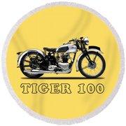 Triumph Tiger 100 1939 Round Beach Towel