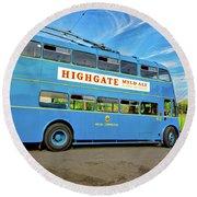 Trolleybus 862 Round Beach Towel