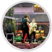 Trombone Shorty And Orleans Avenue, Freeport, Maine   -57584 Round Beach Towel