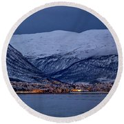 Tromso Seafront Round Beach Towel