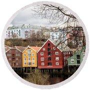 Trondheim Colors Round Beach Towel