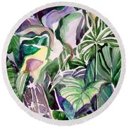 Tropic Lights Round Beach Towel