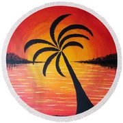 Tropic Of Palms Round Beach Towel