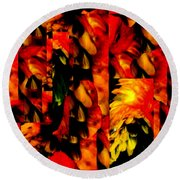 Tropic Round Beach Towel