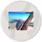 Tropic Shadows Round Beach Towel