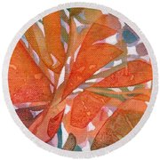 Tropical #5 Round Beach Towel