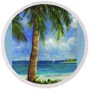 Tropical Beach One Round Beach Towel