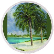 Tropical Beach Two Round Beach Towel