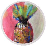 Tropical Candy Round Beach Towel