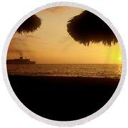 Tropical Cruise Round Beach Towel