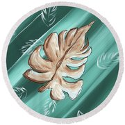 Tropical Dance 1 By Madart Round Beach Towel