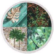 Tropical Dance Square By Madart Round Beach Towel