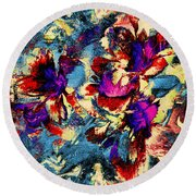 Tropical Delight Round Beach Towel